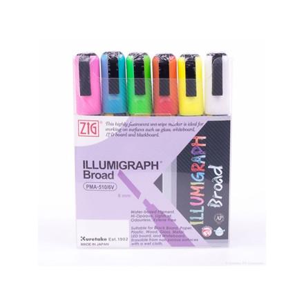 ZIG Illumigraph B 6 mm 6/wallet