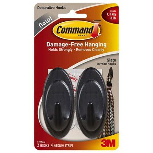 3M Command ellipsekrog med skiferfinish 17086S
