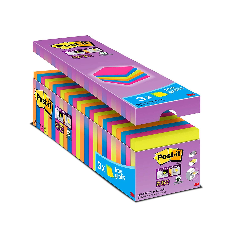 Post-it Super Sticky Notes Value Pack - 24 blokke