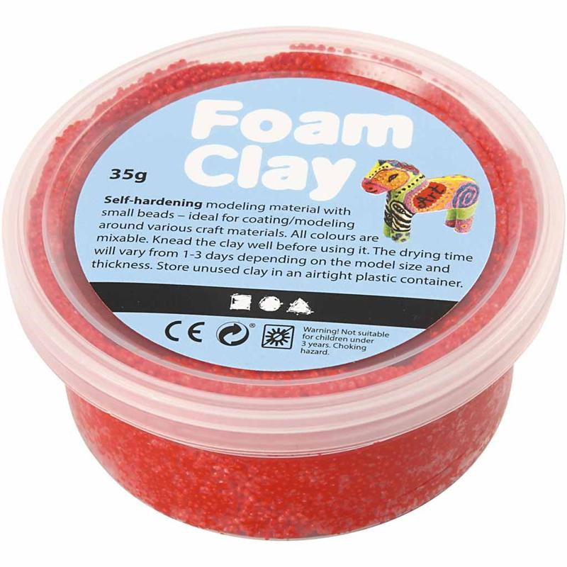 Foam Clay® rød - 35 gram