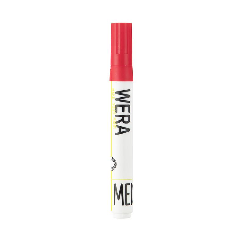 Whiteboardmarker WERA rød - rund 1-3mm