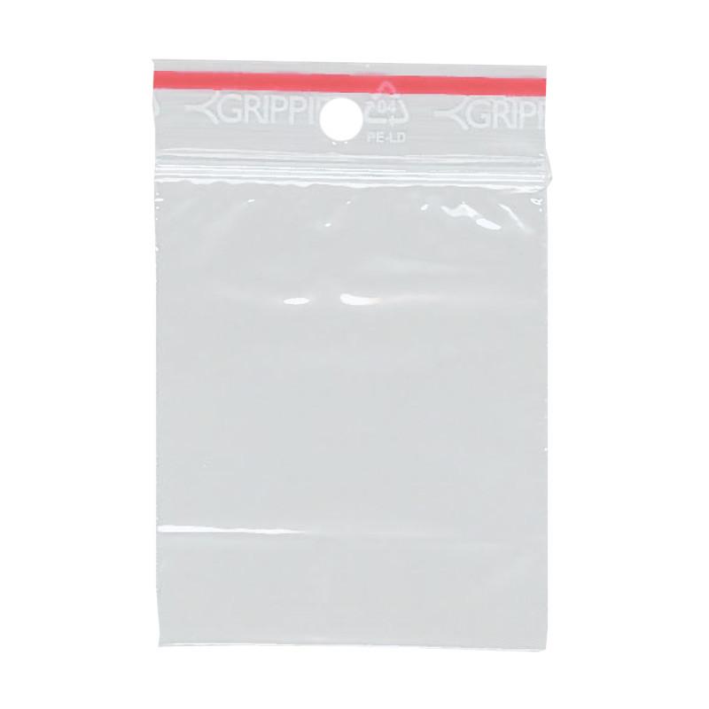 Lynlåspose uden skrivefelt 55 x 65 mm med 5 mm hul GRIPPIE T-02 - 1000 stk i pakke