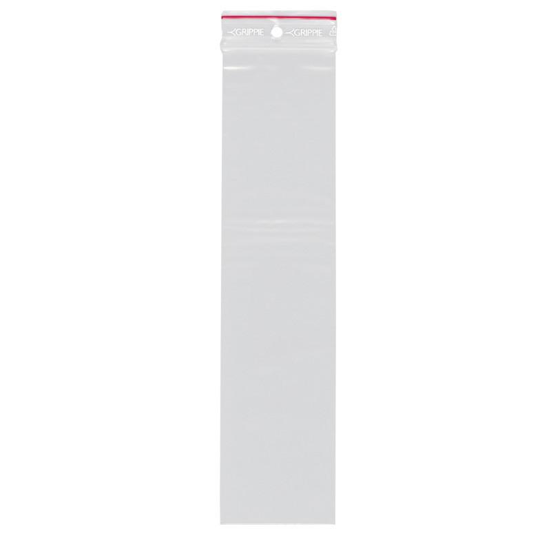 Lynlåspose uden skrivefelt 60 x 250 mm med 5 mm hul GRIPPIE T-06 - 1000 stk i pakke