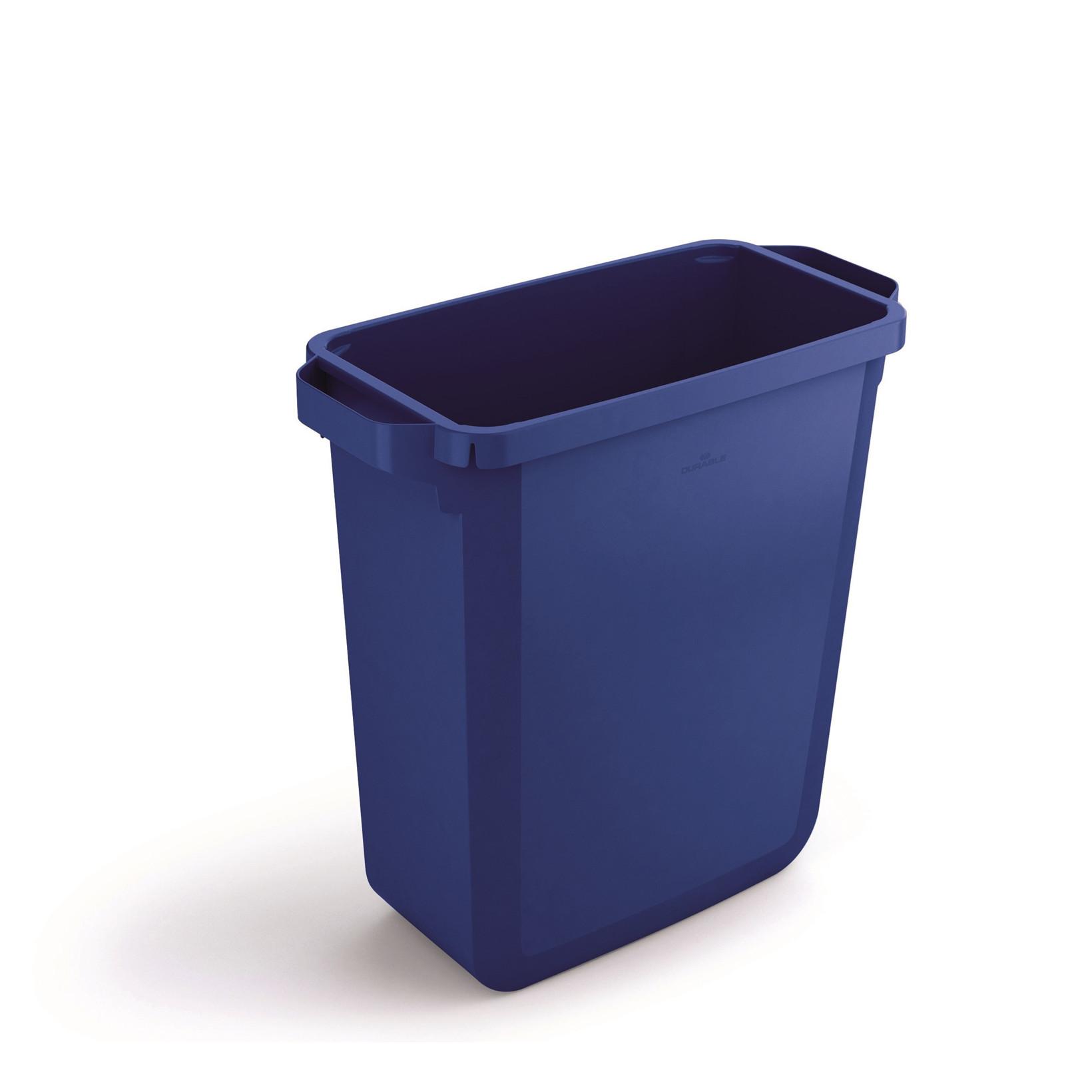 Durabin 60 Blå Skraldespand 60 liter - Firkantet spand