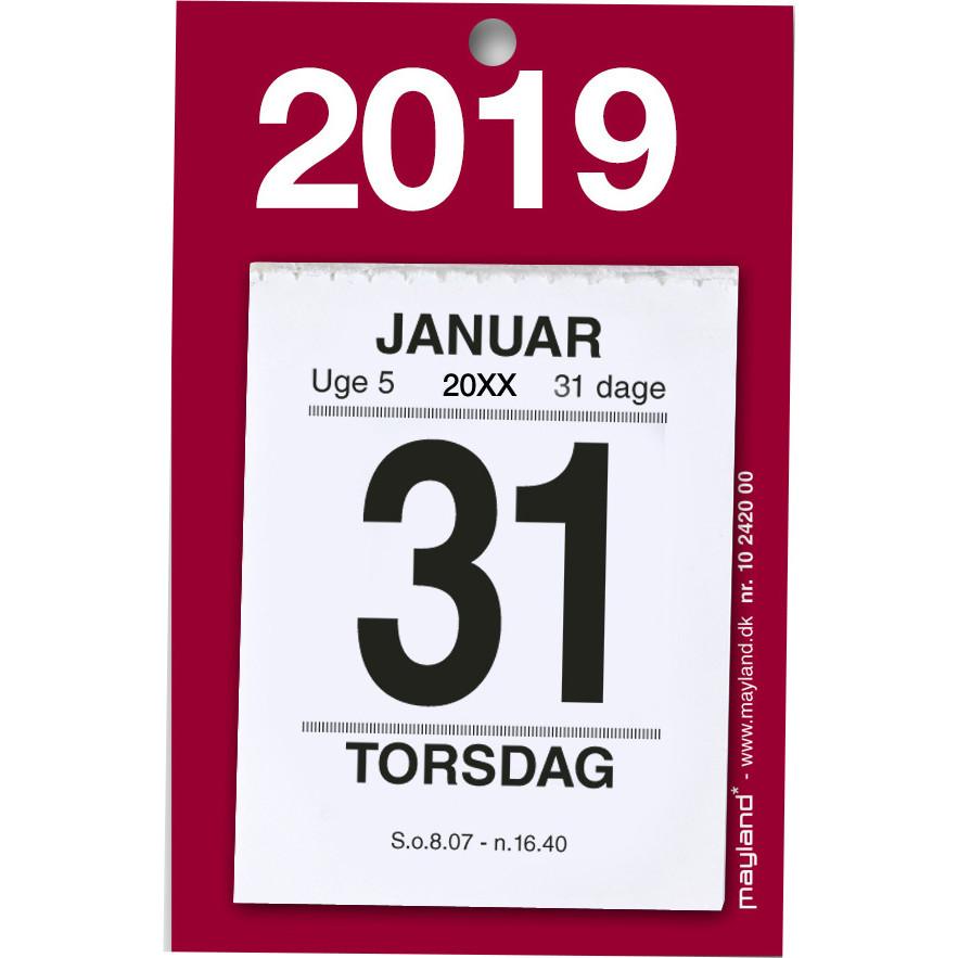 Afrivningskalender 2019 Mayland lille med bagsidetekst 5 x 6,4 cm - 19242000