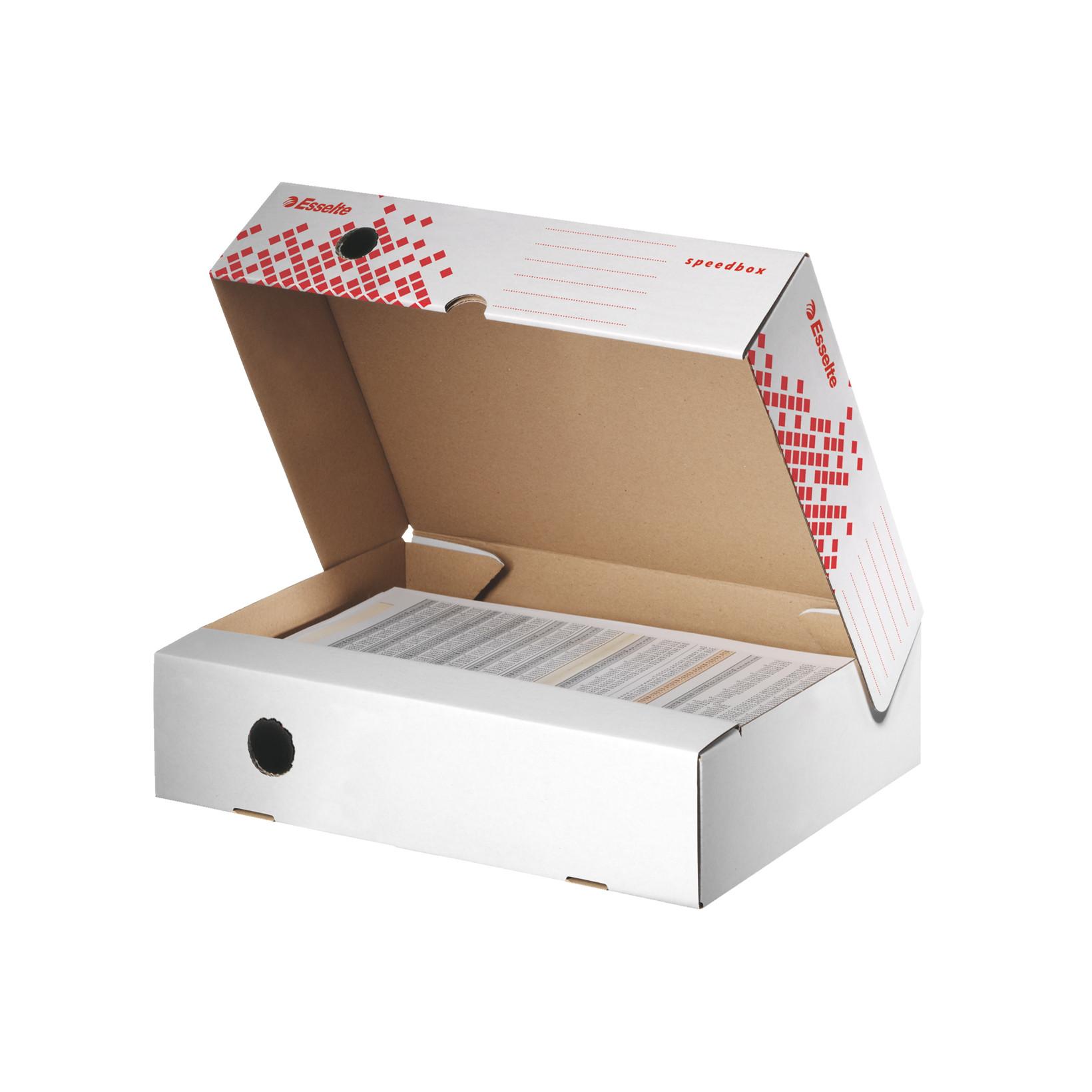 Arkivkasser Esselte Speedbox 623910 - hvid/rød 25 x 35 x 8 cm