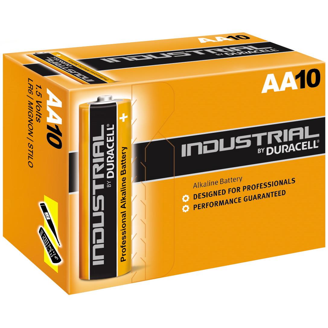 Batteri AA Duracell Industrial - 10 stk i pakken