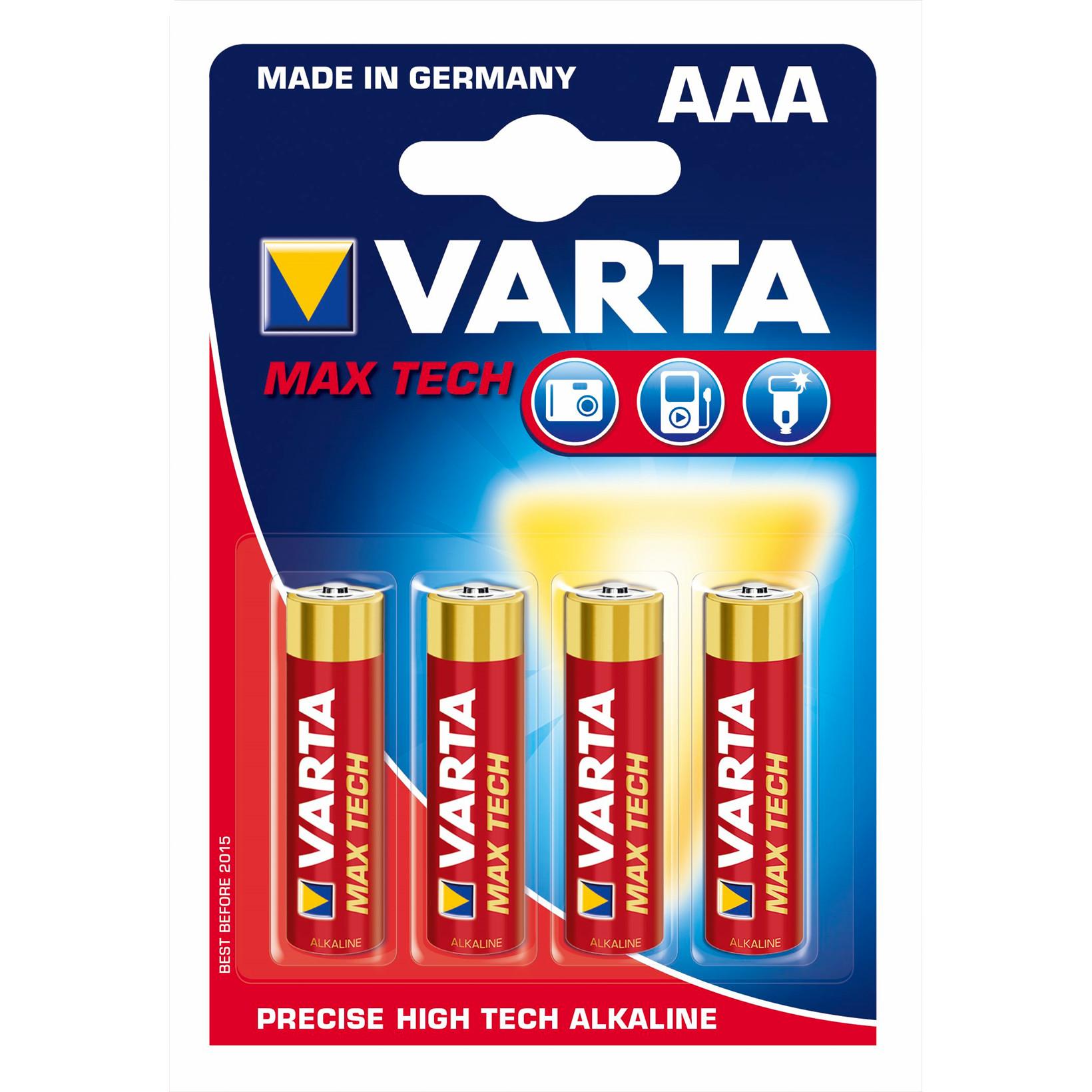 Batteri Max Tech Varta  - 4703 Micro LR 3 AAA 4 stk i en pak