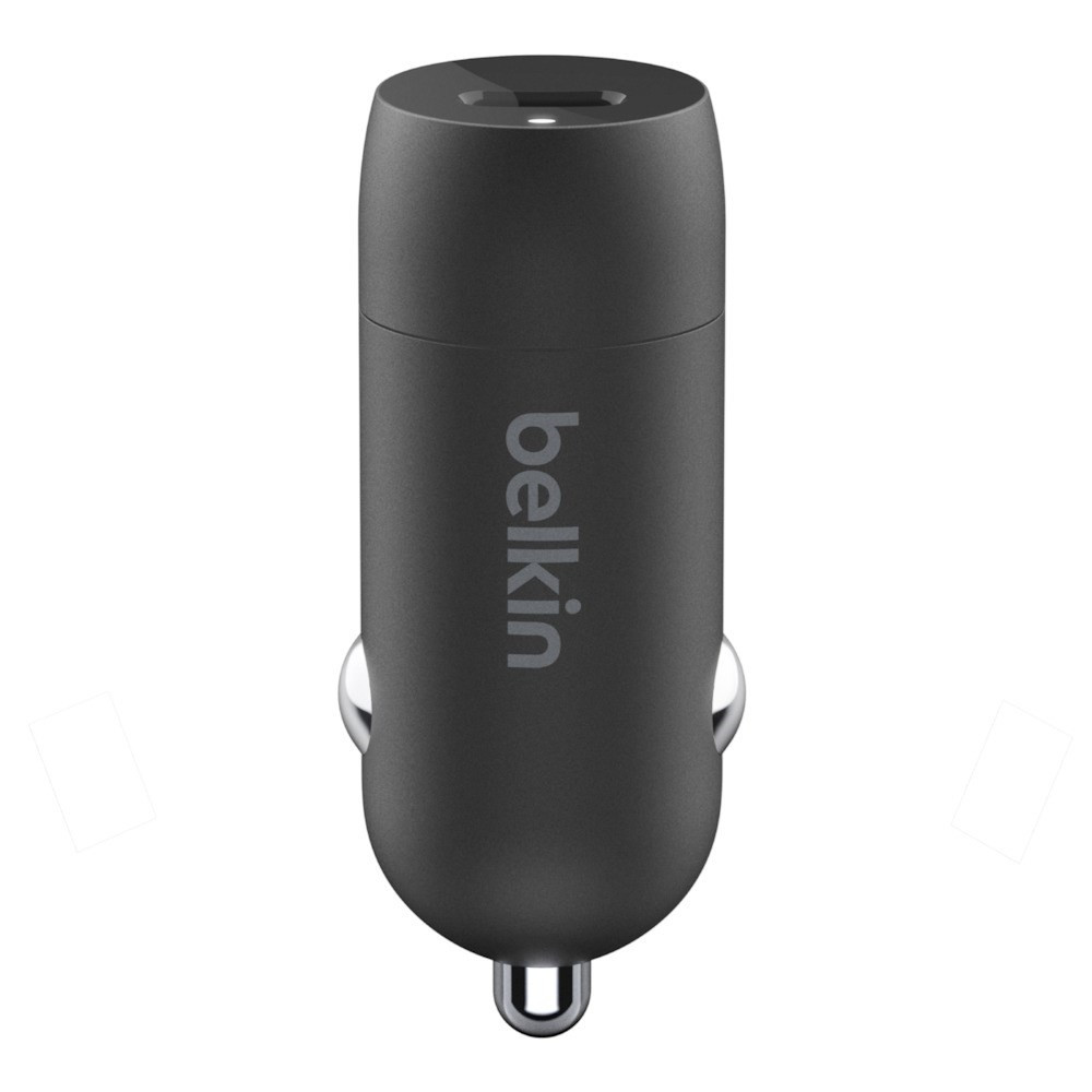 Belkin 18W Car Charger & C-LTG Cable, Black