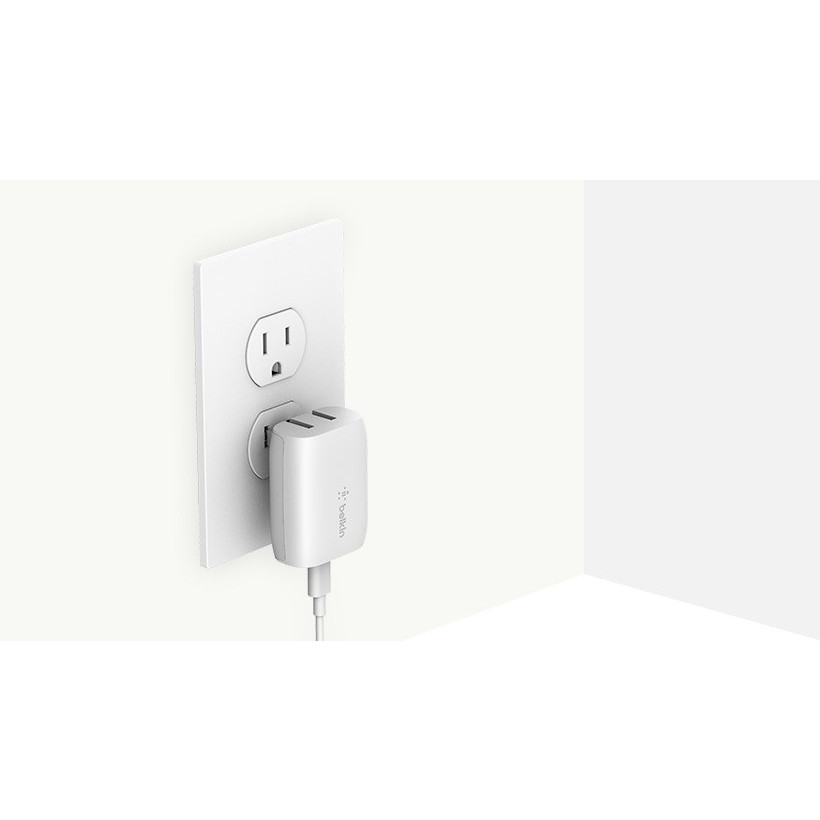 Belkin 18W USB-C Home Charger & C-LTG Cable, White (1.2m)