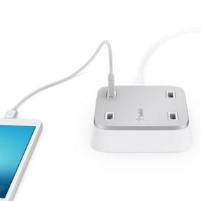 Belkin Family RockStar 4-Port USB Charger, White