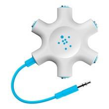 Belkin Rockstar Multi Headphone Splitter, Blue