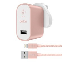 Belkin Universal Home Charger w/Lightning cable, Rose Gold