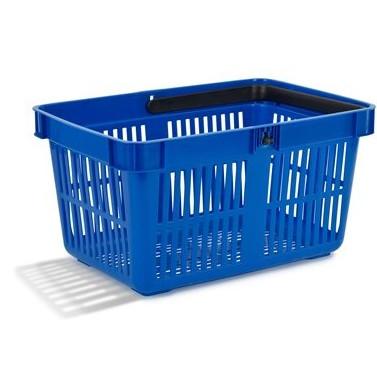 Blå indkøbskurv 27 liter - Nordiska Plast