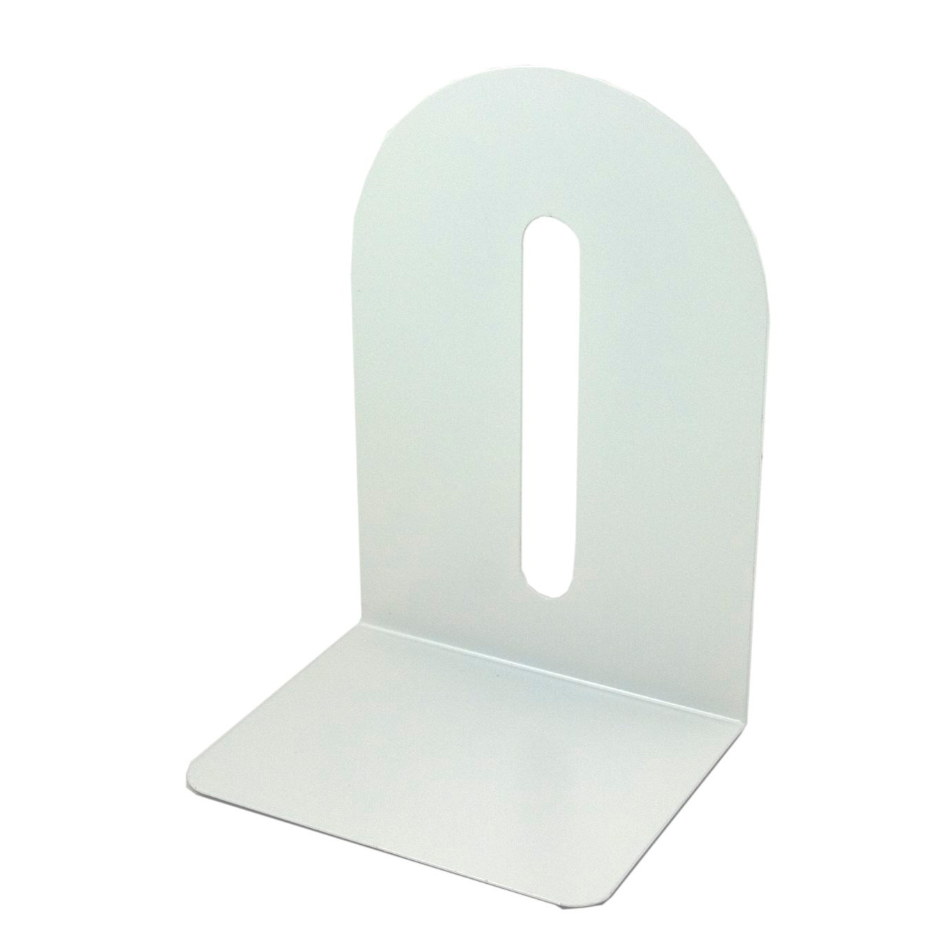 Bogstøtte 20 cm BNT i hvid metal - 1 STK