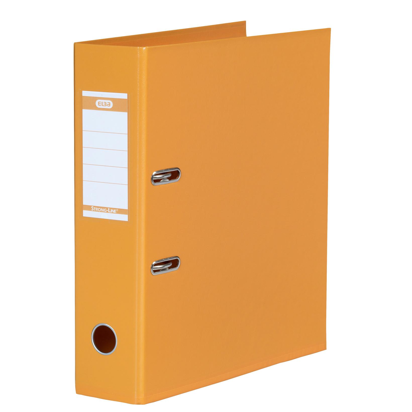 ELBA Strongline A4 brevordner med 80 mm ryg - Orange 1414-12
