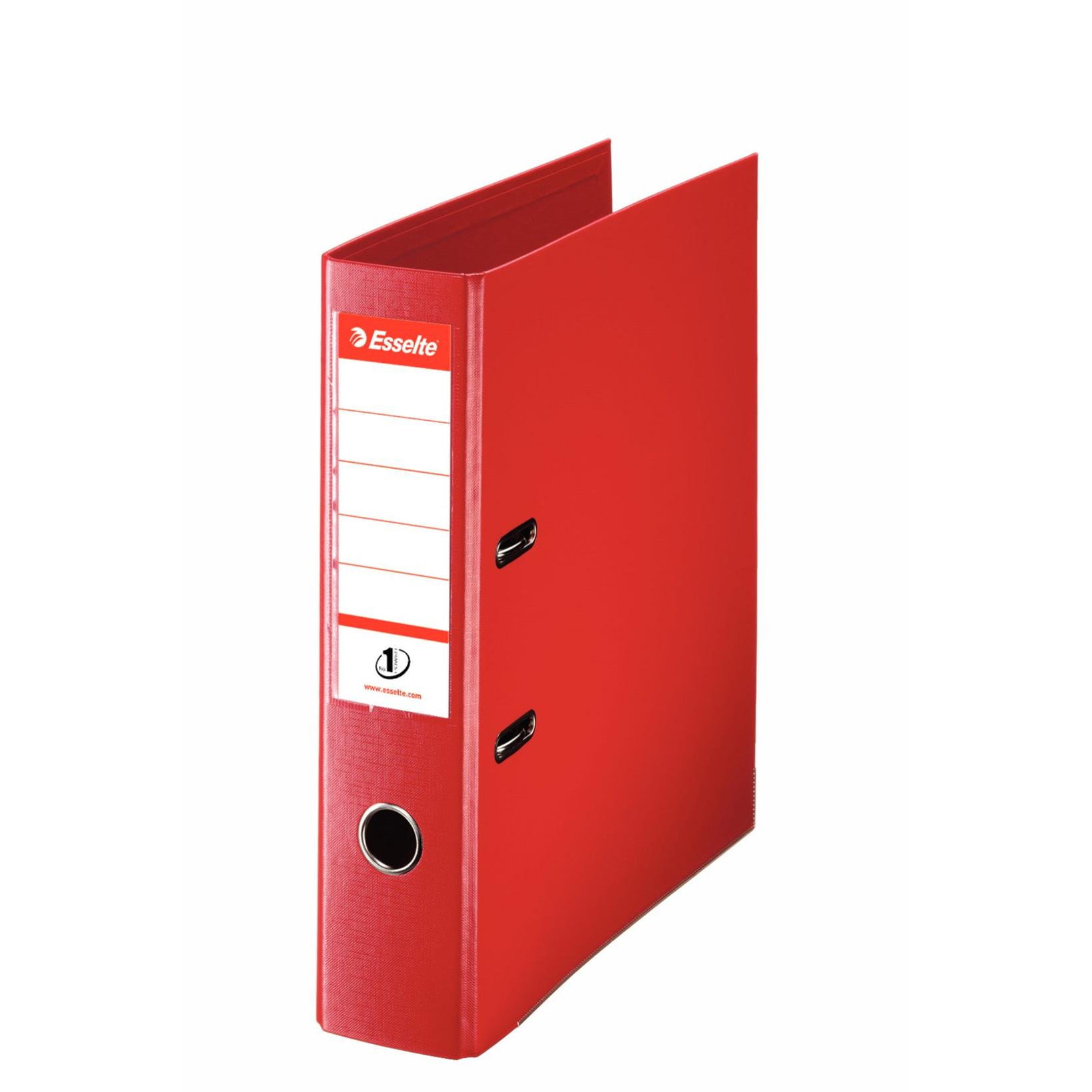 Esselte No 1 brevordner A4 med 75 mm ryg 811330 - Rød