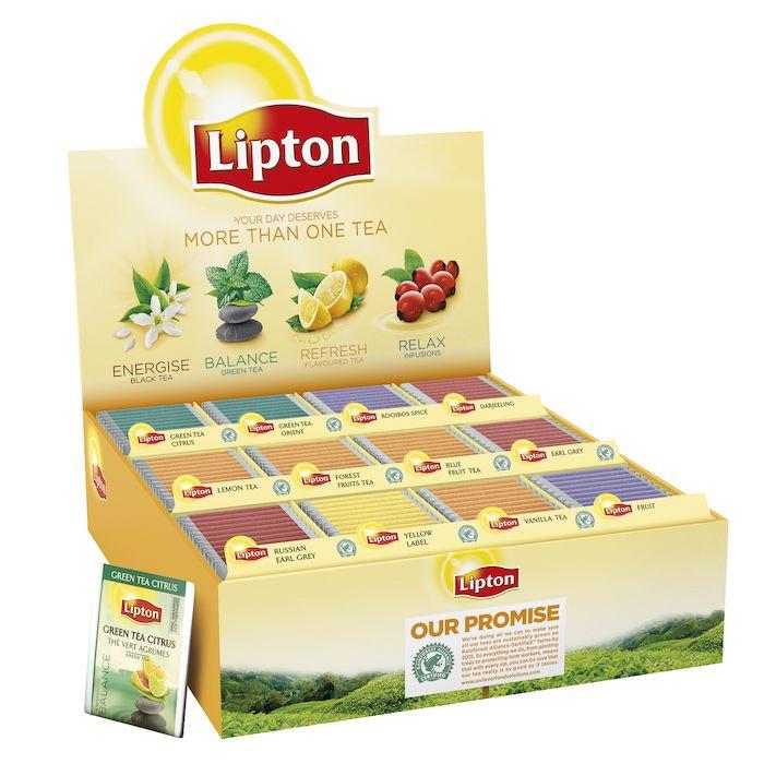 Brevte, Lipton, Assorteret, Top 12, 180 stk