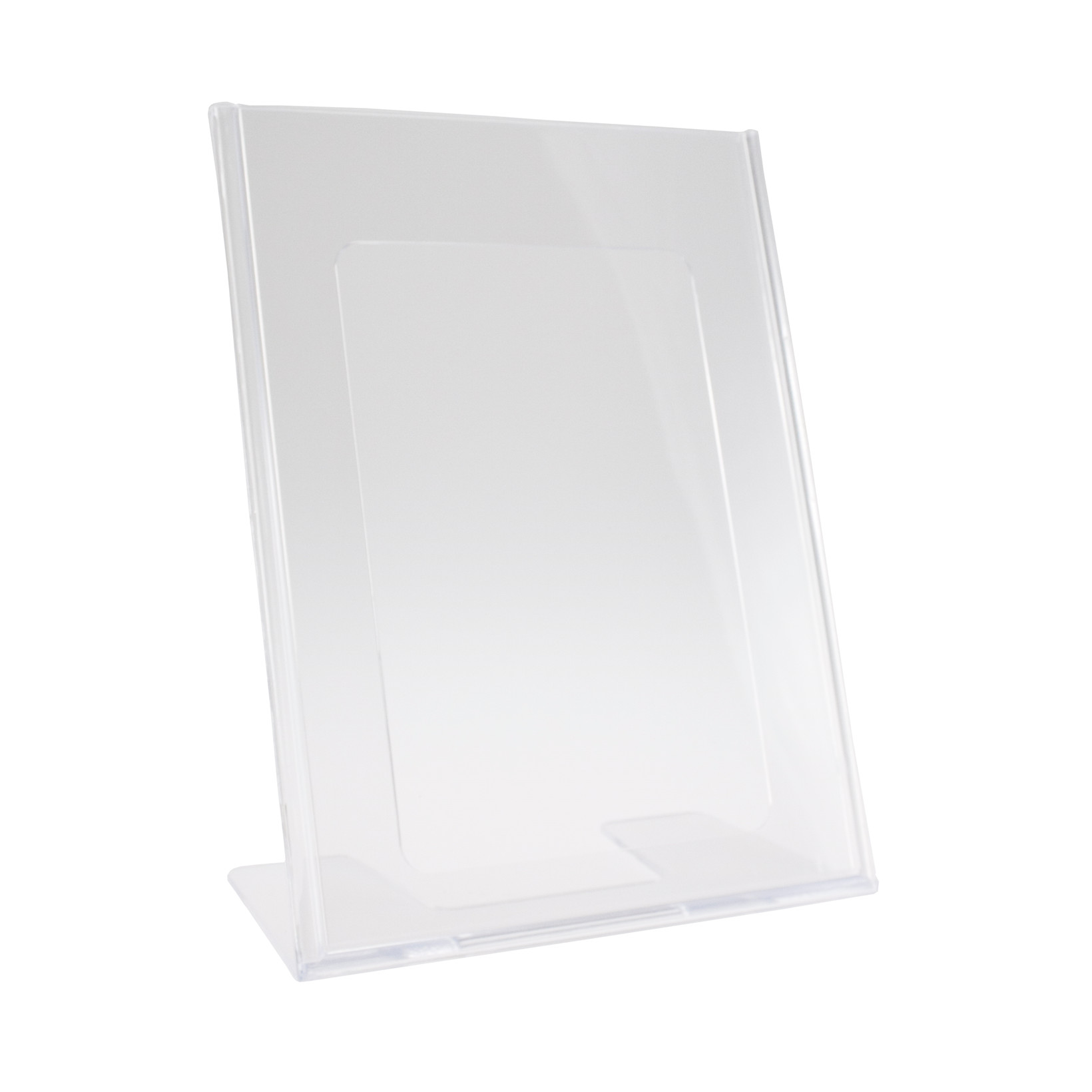 Brochuredisplay BNT A5 klar L-form t/bord 148x210mm