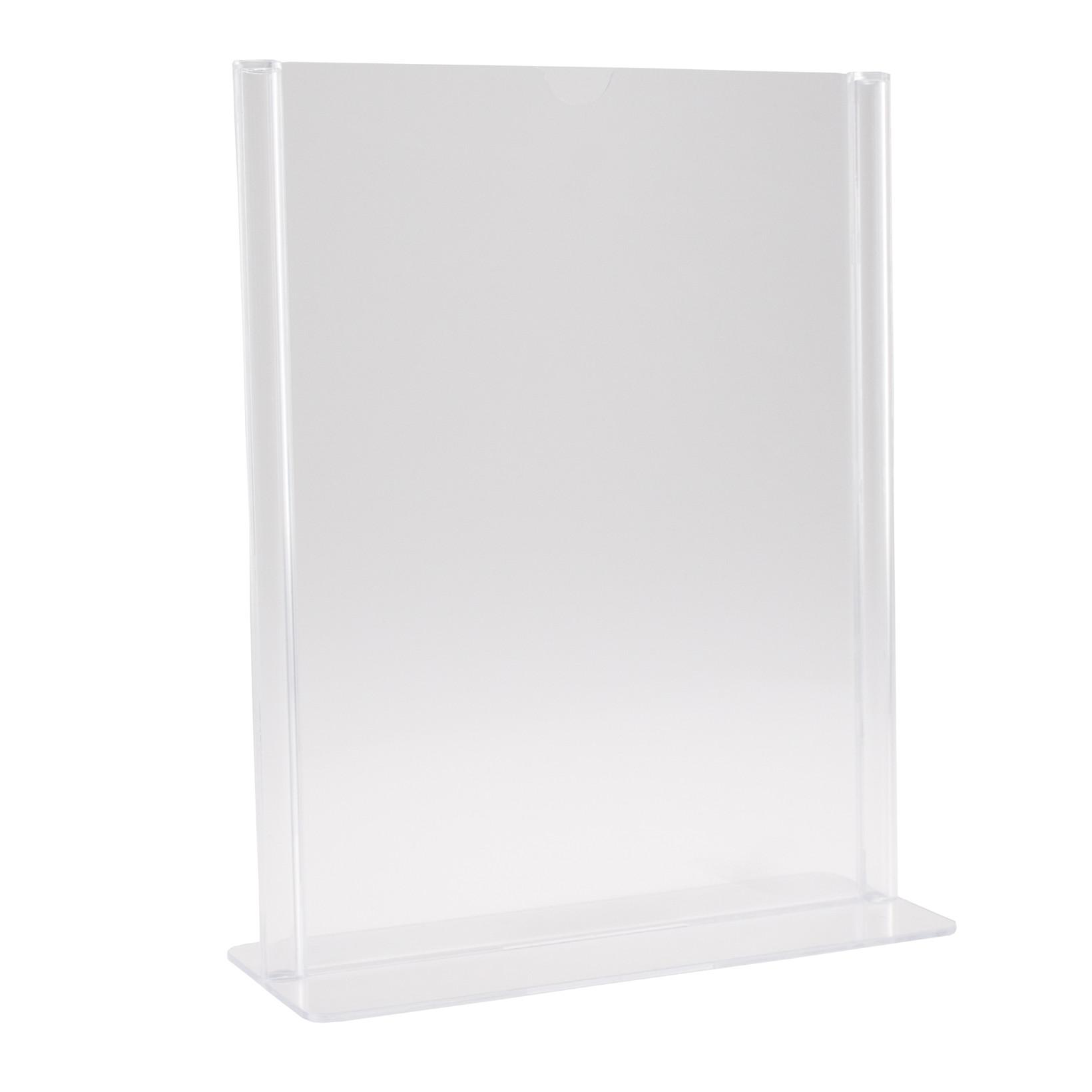 Brochuredisplay BNT A6 klar T-form t/bord 148x105mm