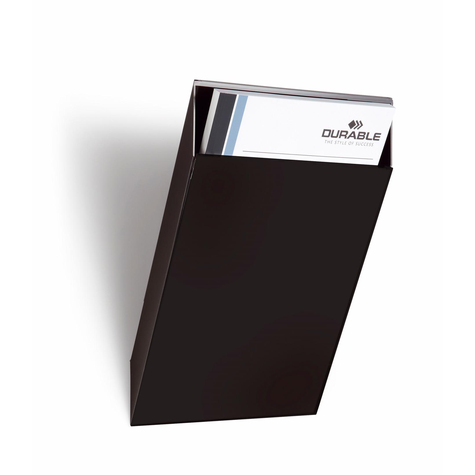 Bakke udvidelse til Flexiboxx A4 Brochureholder - 1 sort stående