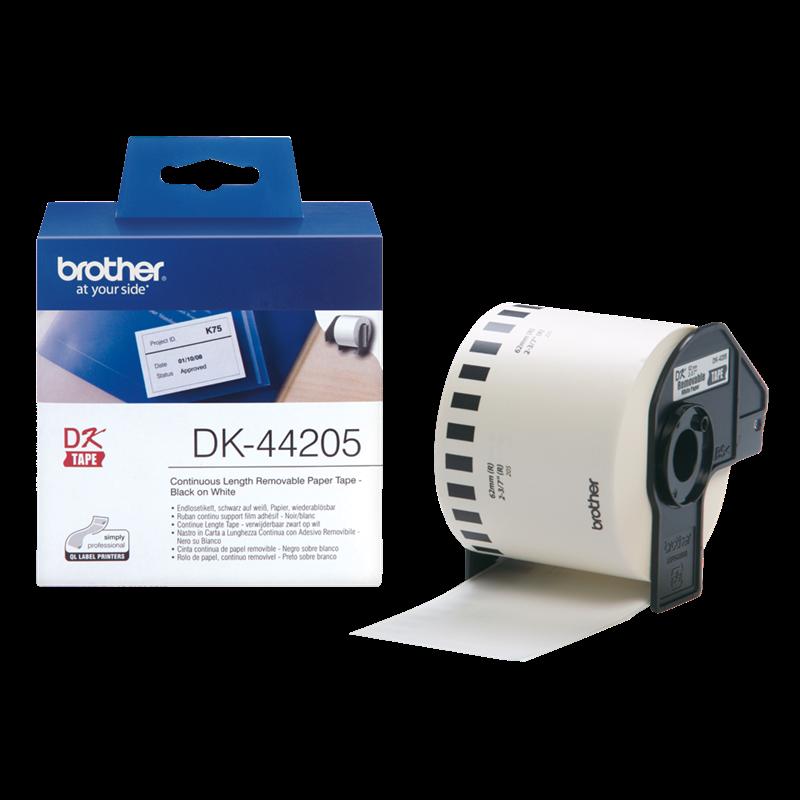 Brother DK-44205 - Hvid aftagelig papirtape 62 mm