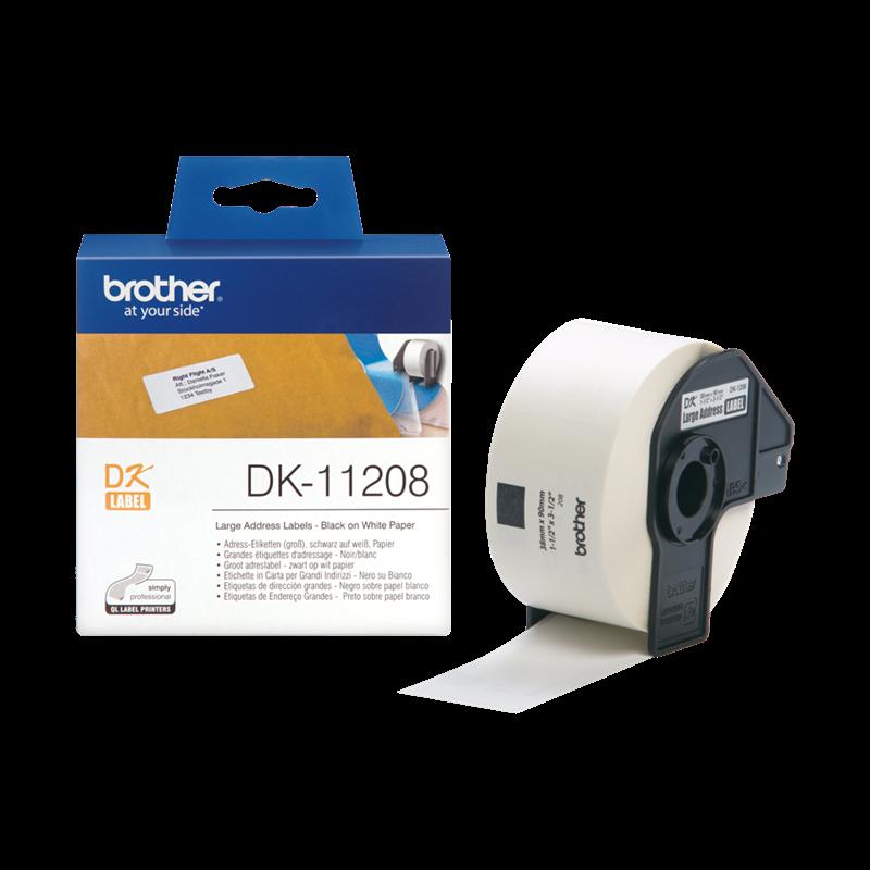 Brother DK11208  -  Adresse etiketter 38 x 90 mm - 400 stk