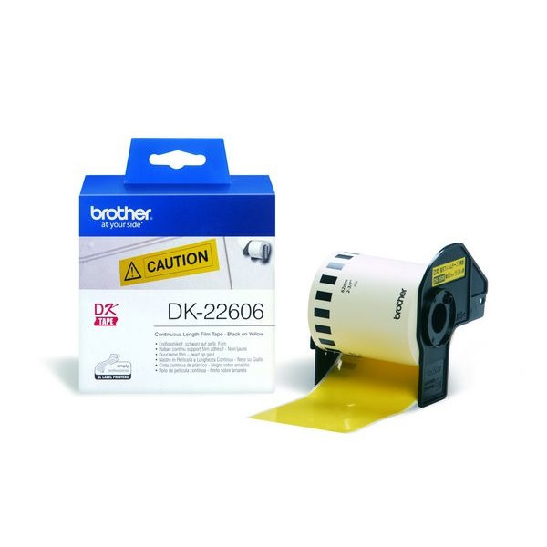 Brother labels 62mmx15,24m yellow film