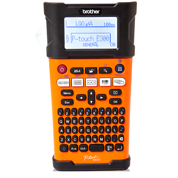 Brother PT-E300VP -  Håndholdt labelprinter med kuffert