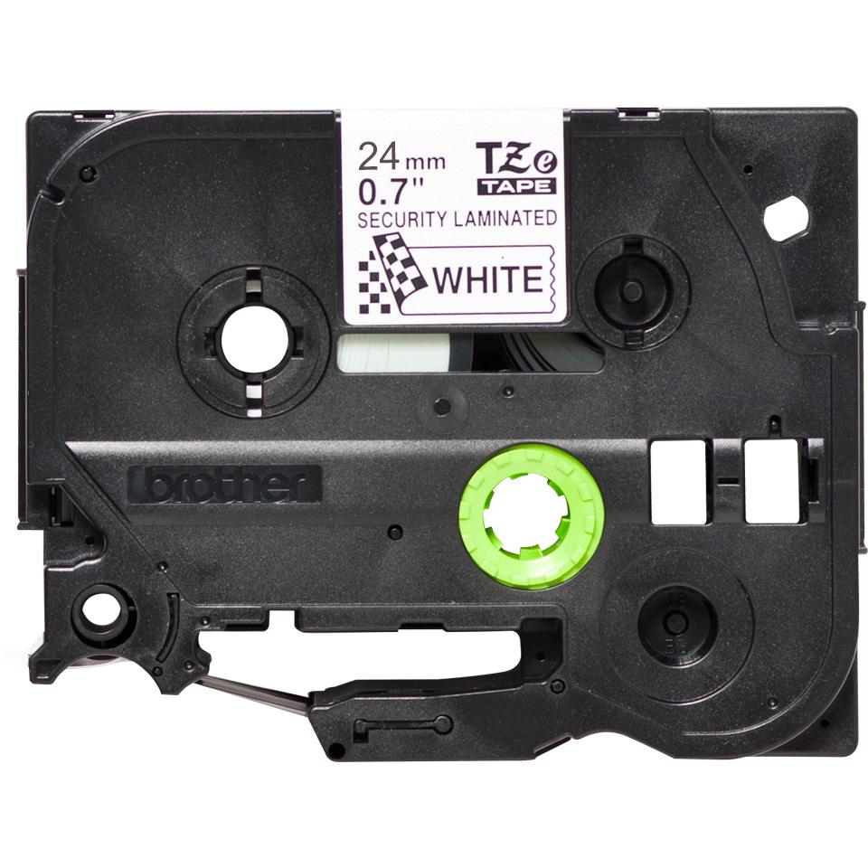 Brother TZe tape 24mmx8m safety black/white