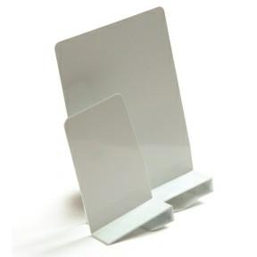 Bogstøtter med klemme hvid stål - 20 cm