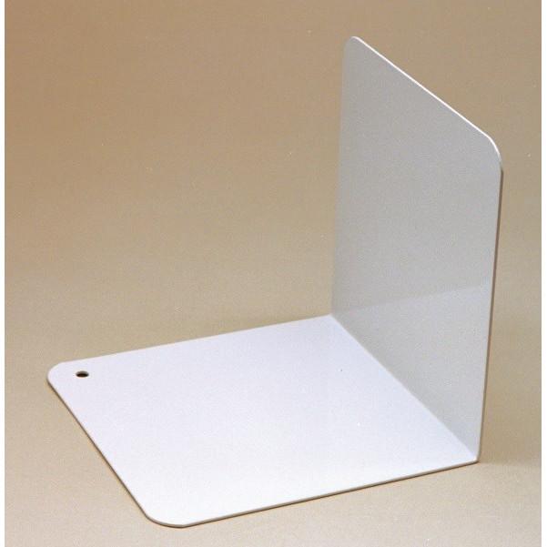 Bogstøtte vinklet hvid metal - 12,5 cm