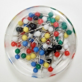 Büngers Map pins 19mm assorted colours 100/box