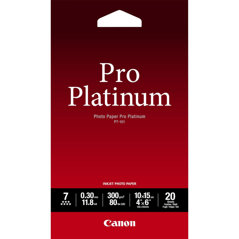 Fotopapir 10x15 cm 300g PT-101 Pro Platinum - 20 ark