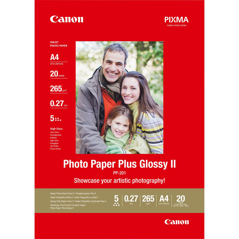 Fotopapir A4 - Canon 265g PP-201 Plus II - 20 ark