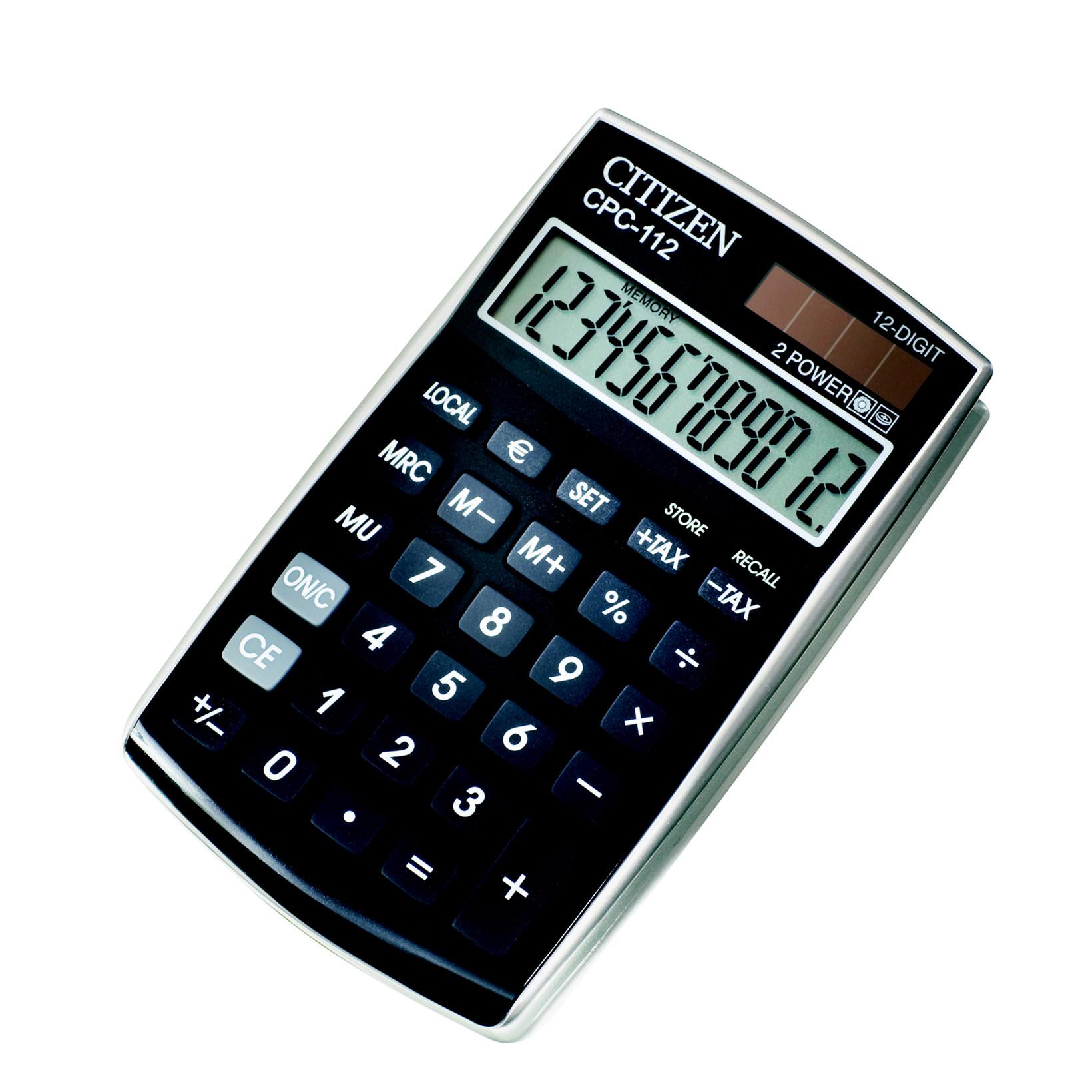 Citizen CPC 112 - Lommeregner sort - Køb billigt på Grafical.dk