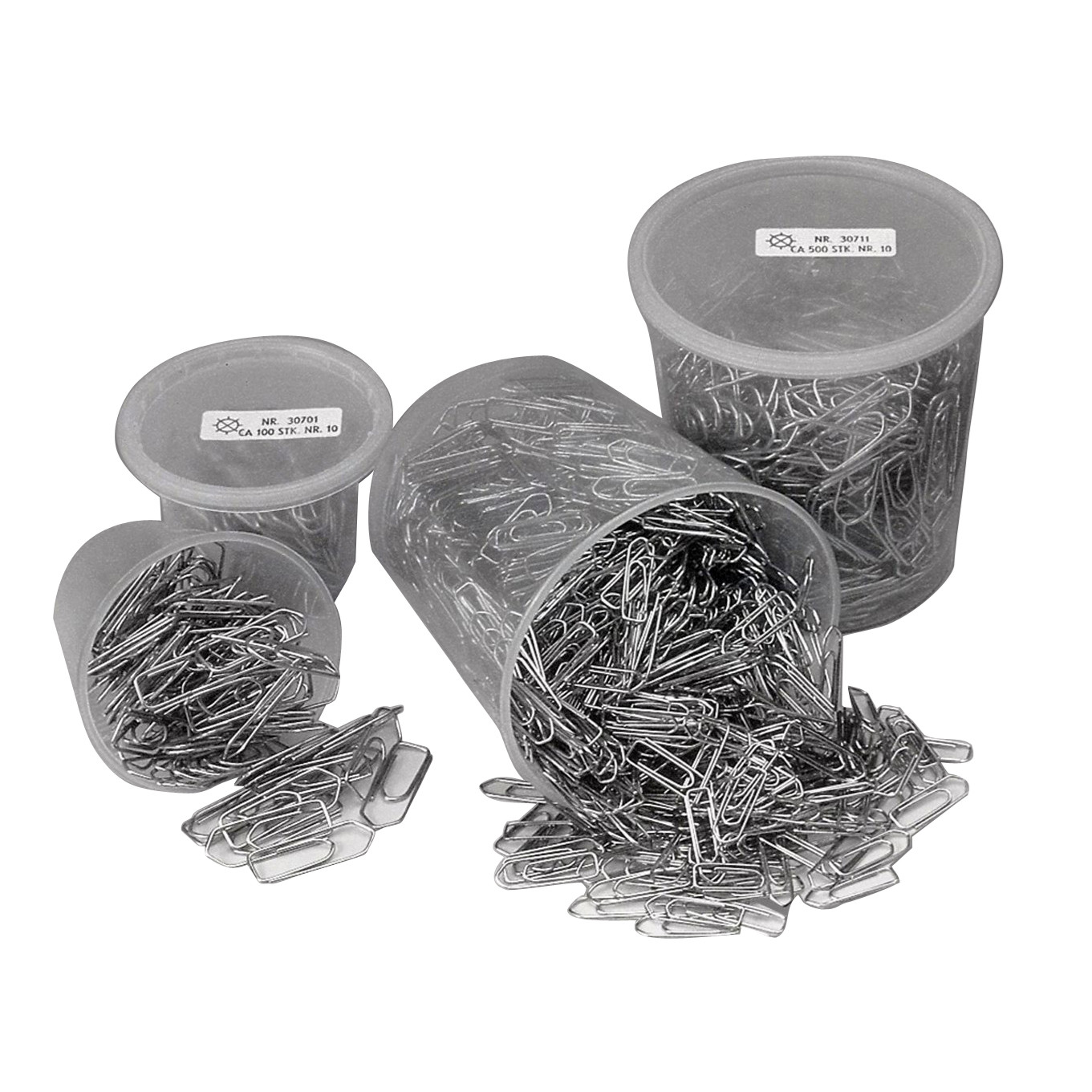 Clips Esselte 25mm i plastdåse 1000stk/ds 30710