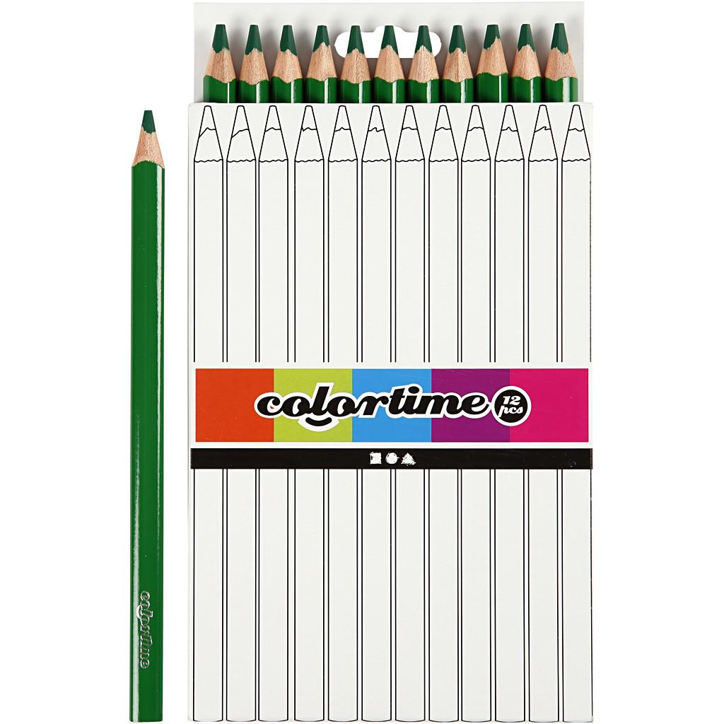 Farveblyanter Colortime, mine: 5 mm, jumbo , Jumbo, 12stk.