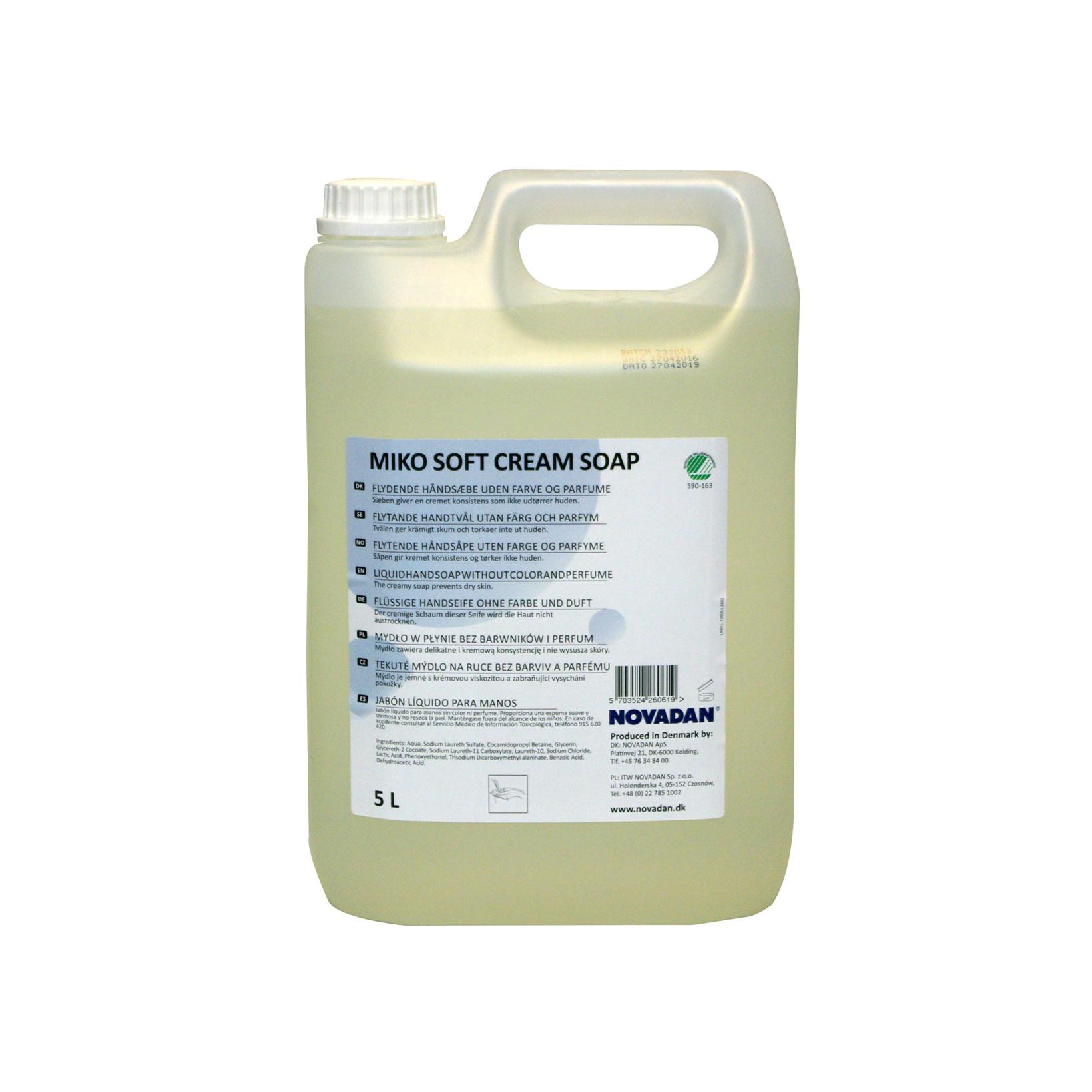 Novadan MIKO Soft Cream Soap Cremesæbe - 5 liter
