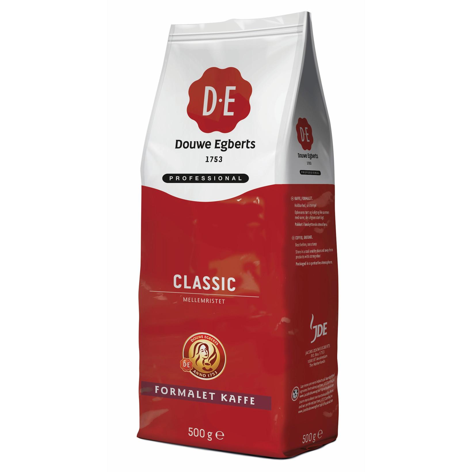 D.E Professional Formalet Kaffe - Classic Mellemristet - 500 gram