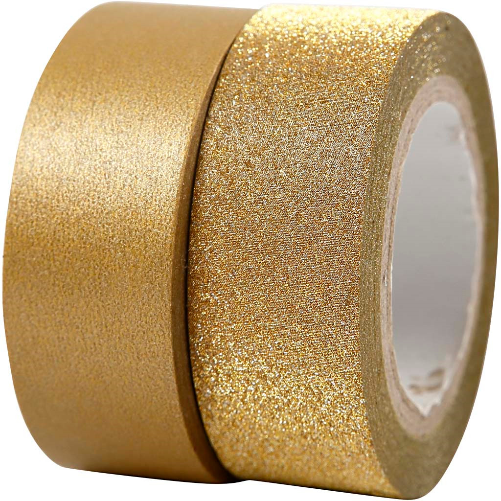 Designtape bredde 15 mm guld Copenhagen | 2 ruller