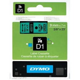 Dymo Tape D1 9mmx7m black/green