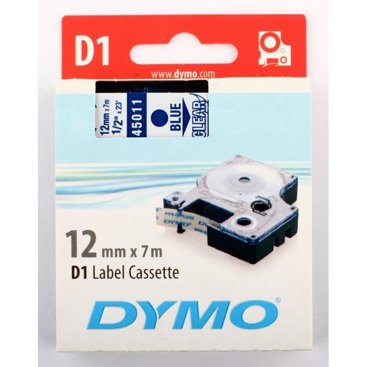 Dymo Tape DYMO D1 12mmX7m blå/trans