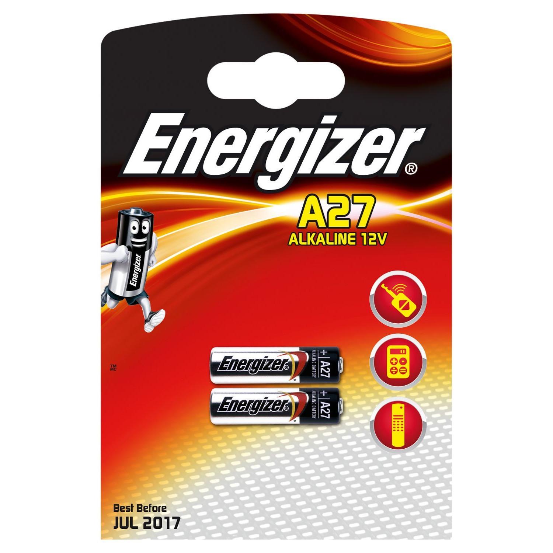 Energizer A27 Alkaline 12V Batteri - 2 stk