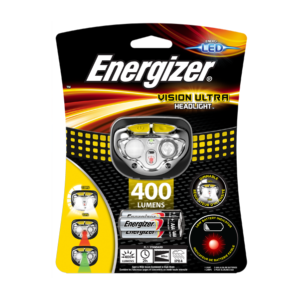 Energizer Vision Ultra Headlight (400 Lumen)