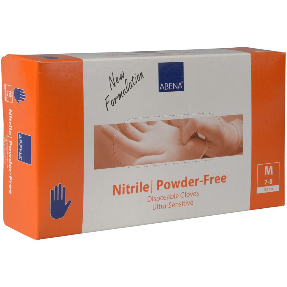 Engangshandsker blå nitril pudderfri Abena Ultra sensitive - Medium