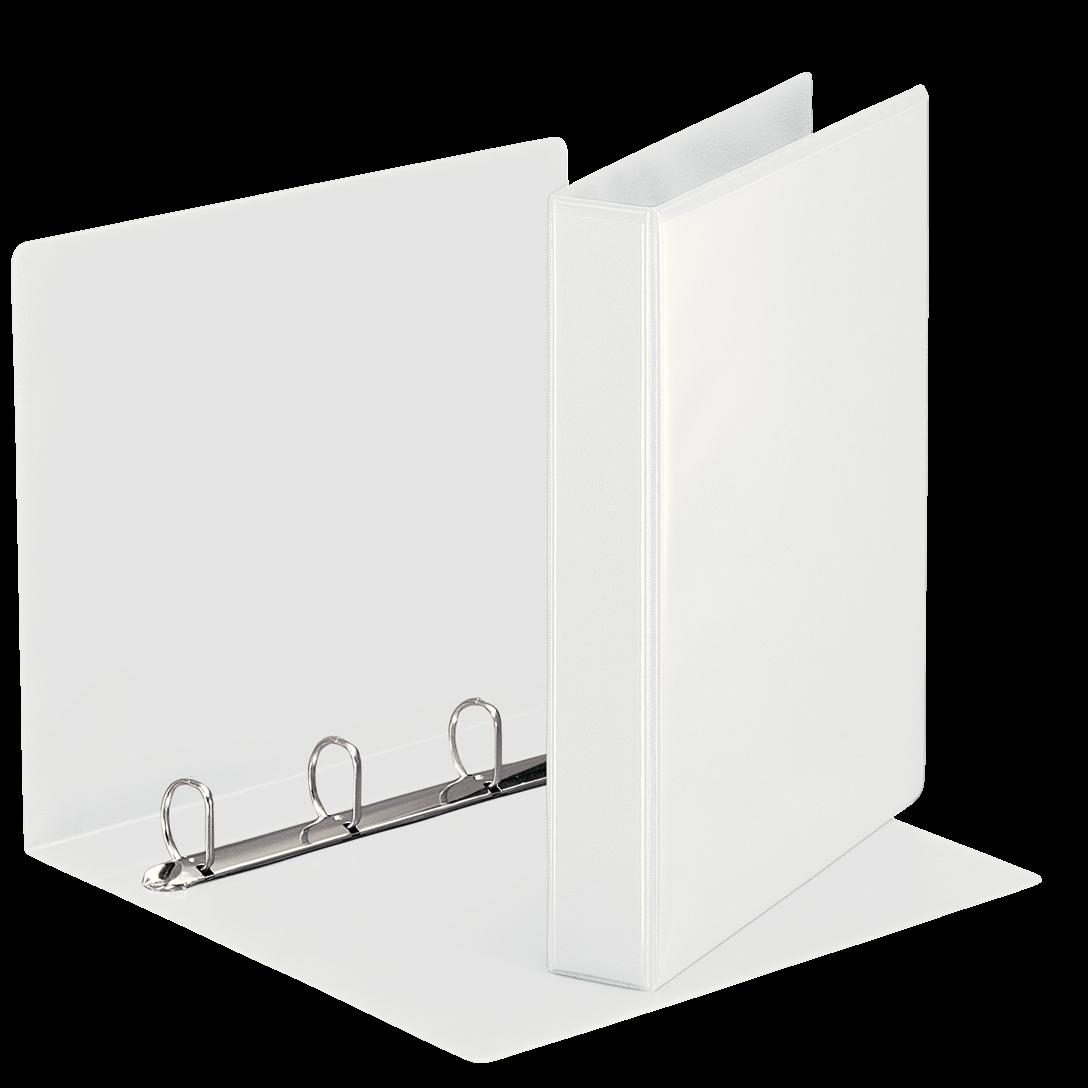 Esselte A4 hobbymappe med 51 mm ryg og 4 ringe - Hvid 49703