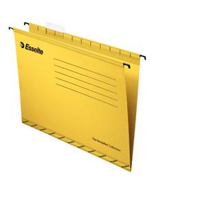 Hængemapper til arkivskab - gul A4