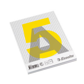Esselte Glued pad A5 60g/100 sheets squared