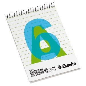 Esselte Spiralblock A6L 60gr  80blad